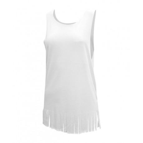 Camiseta flecos abertura lateral